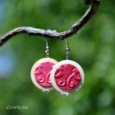 Náušnice Ružový pastel