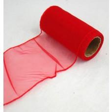 Organza šírky 10 cm Červená