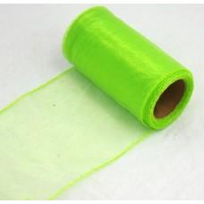 Organza šírky 10 cm Zelená