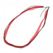 Organzový náhrdelník Červená