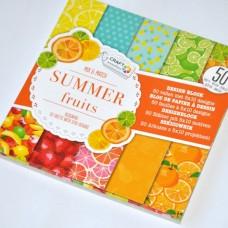 Vzorovaný papier Letné ovocie
