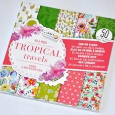 Vzorovaný papier Tropické cestovanie