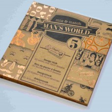 Vzorovaný papier 15x15 Natur Bodky a pásiky