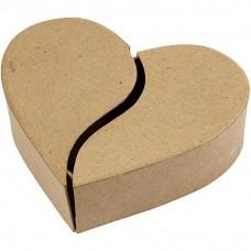 Papierová krabica Srdce delená