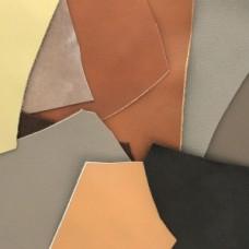 Kožené odrezky Hnedá, sivá