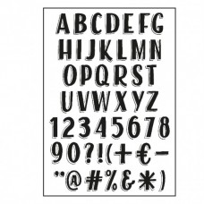 Silikónová pečiatka Paperfuel Písmená Vintage