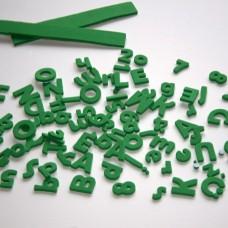Penové Samolepiace Písmená a čísla Zelená