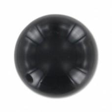 Korálka s polovičným prevŕtaním Čierny onyx 10 mm