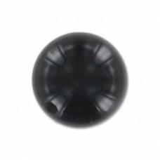 Korálka s polovičným prevŕtaním Čierny onyx 8 mm
