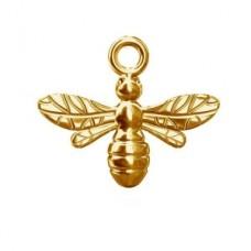 Strieborný pozlátený prívesok Včela