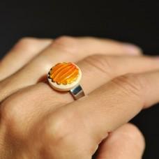 Prsteň Oranžový mini