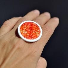 Prsteň Oranžové okvetie