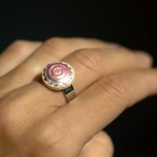 Prsteň Ružový perleťový mini