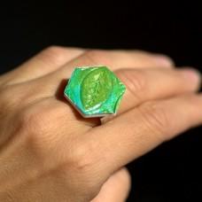 Prsteň Zelený list