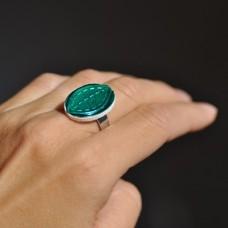 Prsteň Smaragdový list