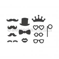 Rezacia šablóna A. Renke Fúzy, okuliare, klobúk ...