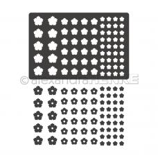 Rezacia šablóna A. Renke Kvety konfety