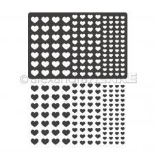 Rezacia šablóna A. Renke Srdcia konfety
