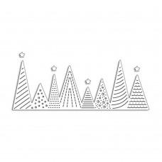 Rezacia šablóna A. Renke Vianočné stromčeky
