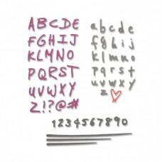 Sizzix Thinlits Plus vyrezávacia šablóna Písmo, čísla