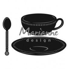 Marianne Design rezacia šablóna Šálka, podšálka a lyžička