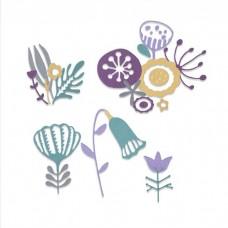 Sizzix Thinlits vyrezávacia šablóna Folk florals / ľudové kvety