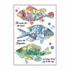 Ryžový papier A4 Fantasy Fishes - Ryby