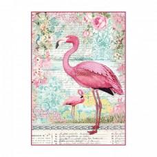 Ryžový papier A4 Pink Flamingo - Plameniak
