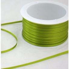 Saténová stuha 3 mm Zelená jarná