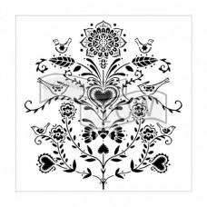 Šablóna TCW Scandi Flowers / ľudový vzor