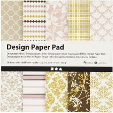 Dizajnový papier 15x15 Pastel farebný