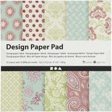 Dizajnový papier 15x15 Kašmír zelená pastel