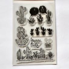 Silikónová pečiatka Kaktusy