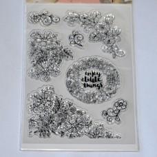 Silikónová pečiatka Ornamenty a kvety