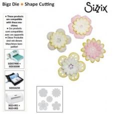 Sizzix Bigz Die vyrezávacia šablóna Kvietky 4 typy
