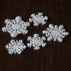 Snehové vločky, výrezy Biela Sada 5 ks