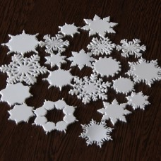Snehové vločky, výrezy Sada 20 ks