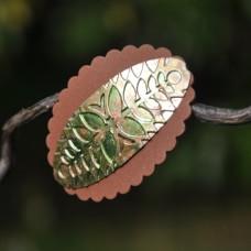 Spona do vlasov Zlatohnedé papradie