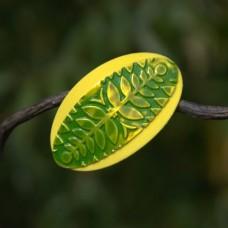 Spona do vlasov Zelené papradie
