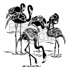 Šablóna TCW Flamingos / Plameniaky