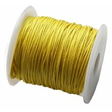 Bavlnená voskovaná šnúrka Žltá
