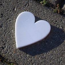 Výrez z machovej gumy Srdce 4,8x5,5 cm