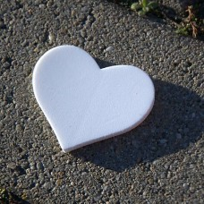 Výrez z machovej gumy Srdce 6,4x5,5 cm