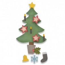 Sizzix Bigz Die Plus vyrezávacia šablóna Vianočný stromček