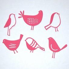 Vtáčiky, sliepočka Ružová 6 ks