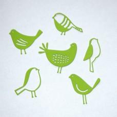Vtáčiky, sliepočka Zelená svetlá 6 ks