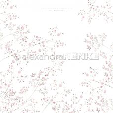 Vzorovaný papier A. Renke Gypsomilka