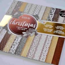 Vzorovaný papier 30x30 Vianočný Natur