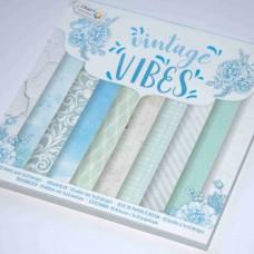 Vzorovaný papier 15x15 Vintage mentol