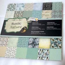 Vzorovaný papier 30x30 Rustikálkny